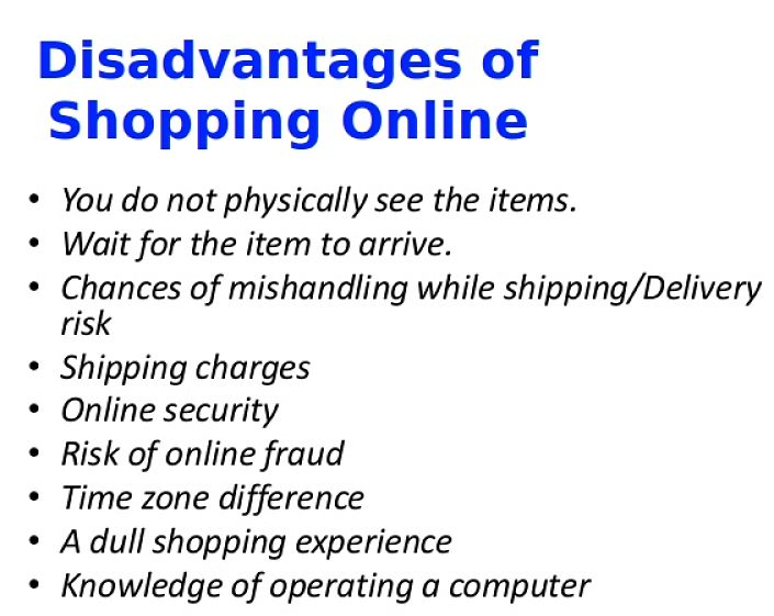 Disadvantages of Shopping Online